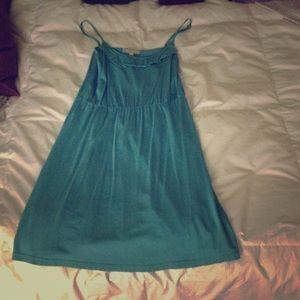 Loft cotton teal dress